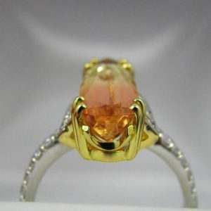 The Imperial Topaz Bicolor ring is exactly what you thought it might be: a Topaz with Two Colors and not one.