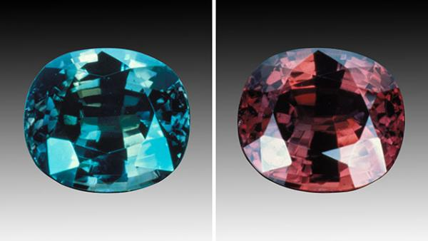 Alexandrite Stone Ring Necklace