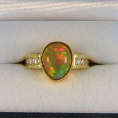 Custom Ethiopian Opal Ring