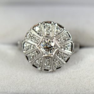 1930s Round Domed Diamond Ring 1