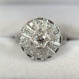 1930s Round Domed Diamond Ring 1
