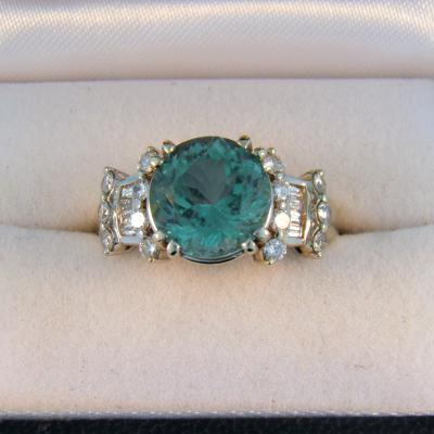 Afghan Blue Tourmaline Ring
