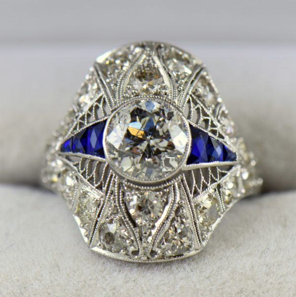 Amazing Art Deco 1.50ct Diamond 2 1