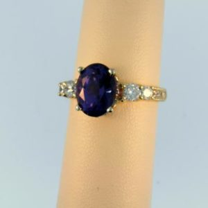 Amazing Color Change Spinel Ring
