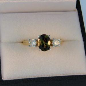 Andalusite 3 Stone Ring