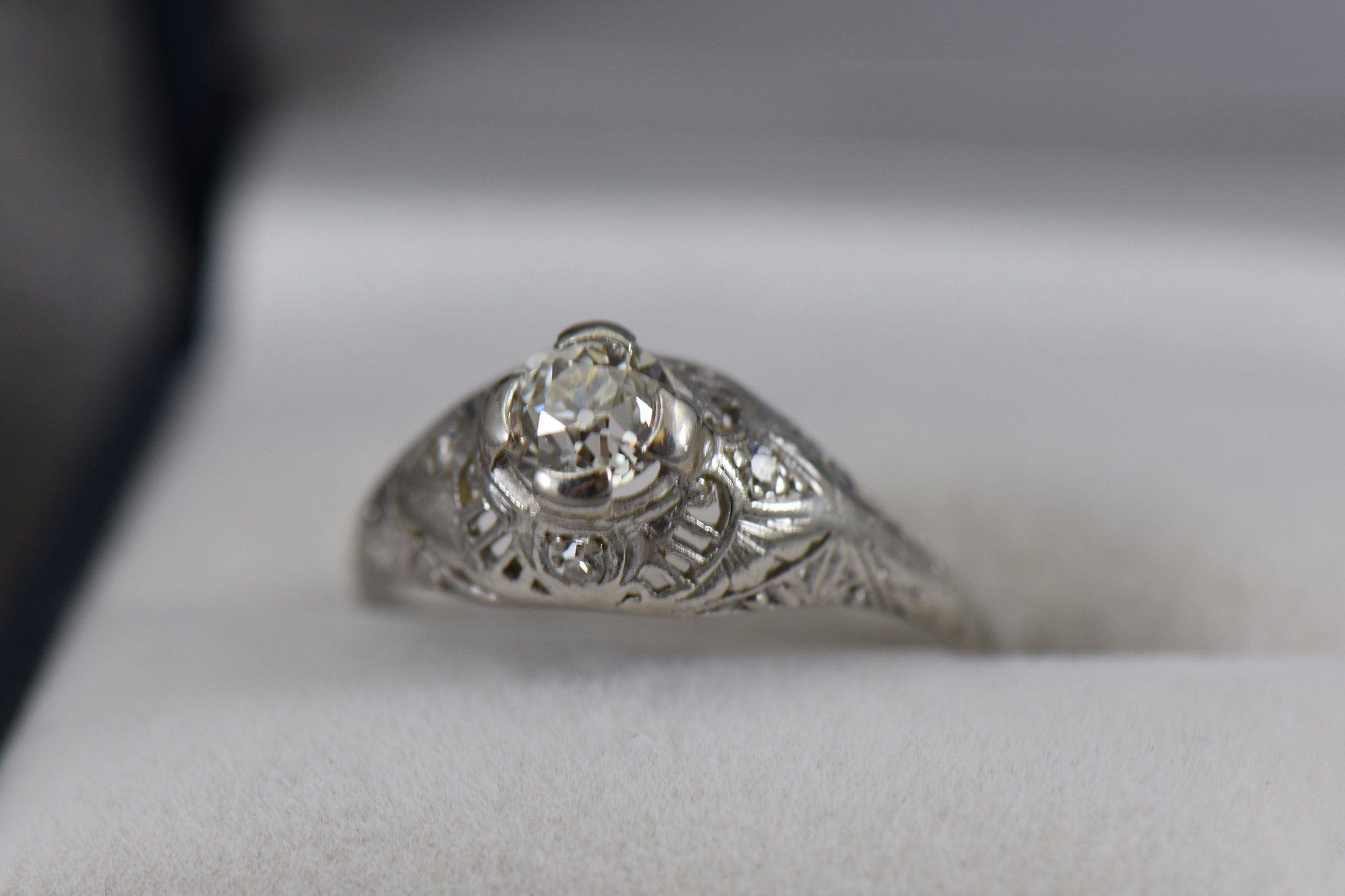Art Nouveau 65ct Diamond Engagement Ring Federal Way Custom Jewelers