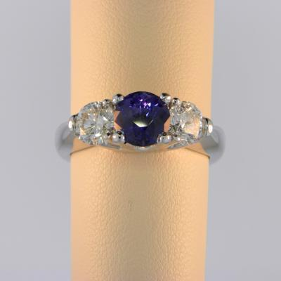 Color Change Sapphire Three Stone Ring