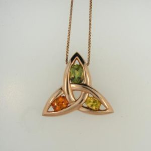 Colored Gem Trinity Pendant