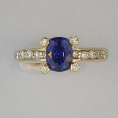 Contemporary Blue Sapphire Ring