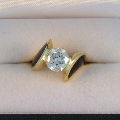CroppedImage400400 1.75ct euro with jade inlay ring