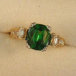 CroppedImage400400 3.25ct tsavorite cushion ring