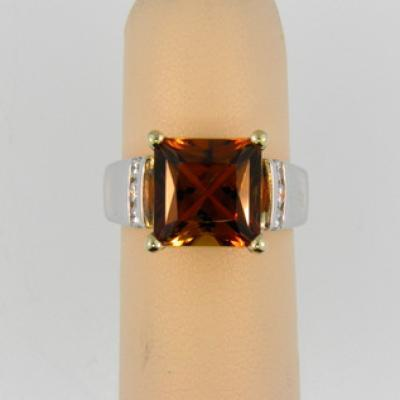 CroppedImage400400 4ct square autumn tourm ring