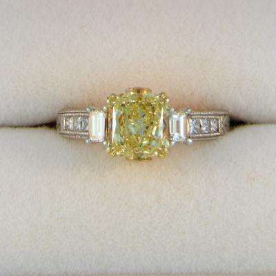 CroppedImage400400 Yellow dia engagement ring