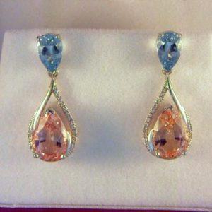 CroppedImage400400 aqua and morganite earrings