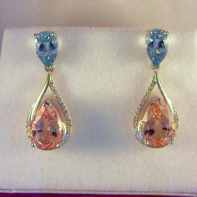 CroppedImage400400 aqua and morganite earrings