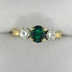 CroppedImage400400 british emerald ring
