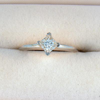 CroppedImage400400 diamond set princess engagement ring .44 si2 g