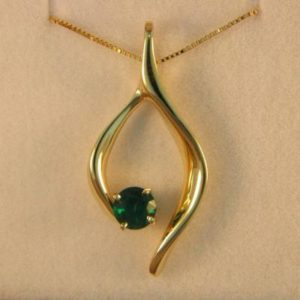CroppedImage400400 emerald pendant .54ct