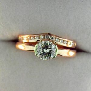 CroppedImage400400 rose gold semi bezel solitaire with band