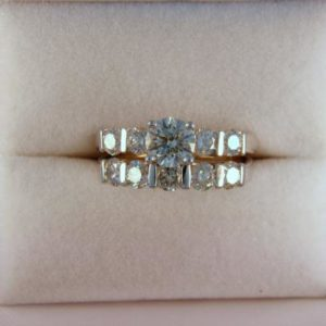 CroppedImage400400 si2 k .78ct wedding set
