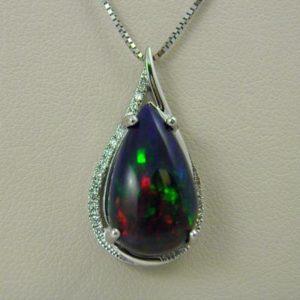 CroppedImage400400 smoked ethiopian opal pendant