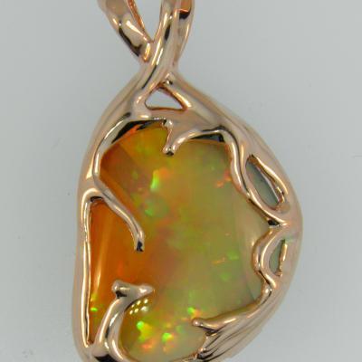 Custom Ethiopian Opal Pendant