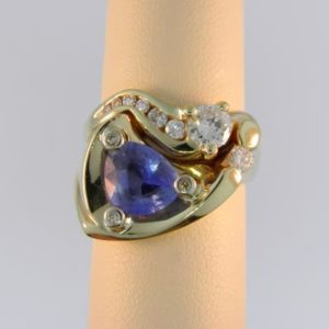 Custom Trillion Sapphire Ring