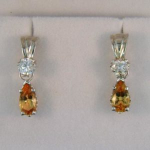 Detachable Imperial Topaz Earrings