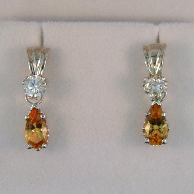 Detachable Imperial Topaz Earrings