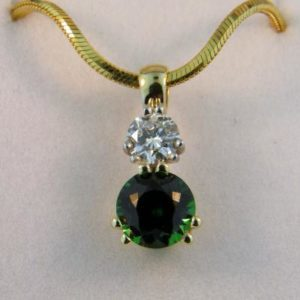 Diamond and Tsavorite Pendant