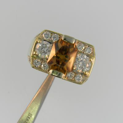 Dyer Champagne Zircon Ring