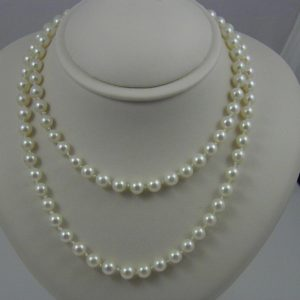 Estate Cultured Pearl 2 Row Necklace 1
