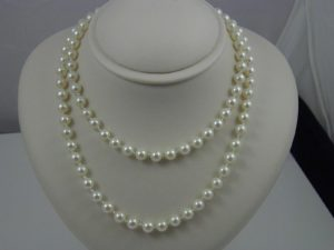 Estate Cultured Pearl 2 Row Necklace