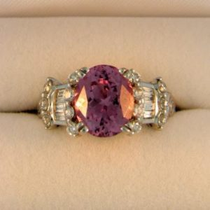 Flashy Pink Spinel Ring
