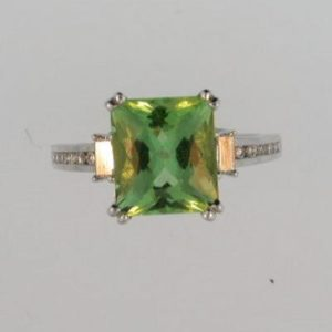 Green Beryl Cocktail Ring