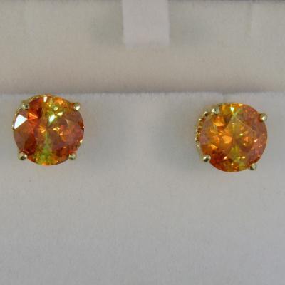 Huge Sphalerite Stud Earrings