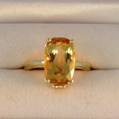 Imperial Topaz Solitaire Ring