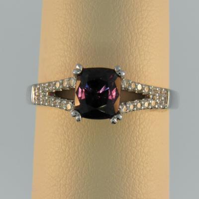 Indigo Garnet Ring