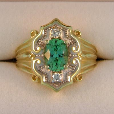Italian Design Tourmaline Ring
