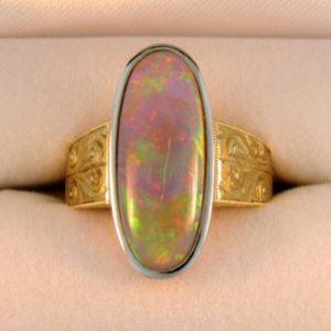 Large Australian Opal Ring