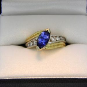 Marquis Blue Sapphire Ring
