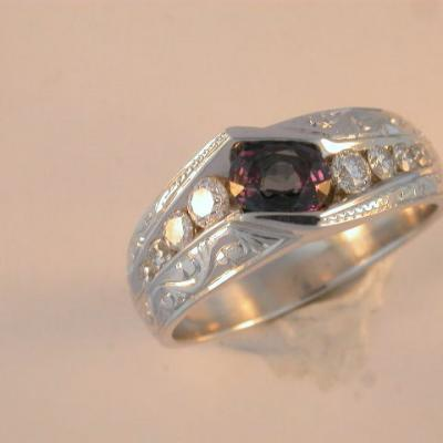 Mens Alexandrite Ring