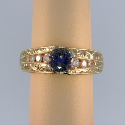 Mens Bicolor Sapphire Ring