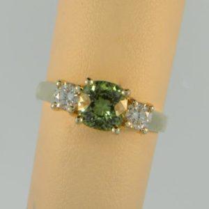 Mint Chrysoberyl Trellis Ring
