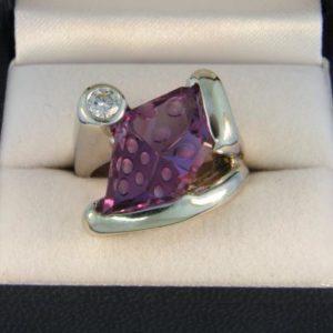 Moonscape Amethyst Ring