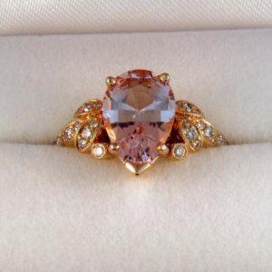 Natural Morganite Ring