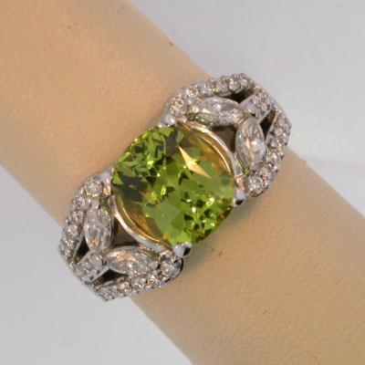 Neon Chrysoberyl Ring