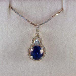 No Heat Sapphire Pendant
