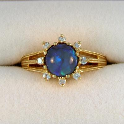 Opal Earth Ring