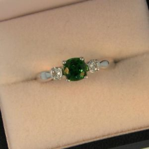 Pillow Tsavorite Ring
